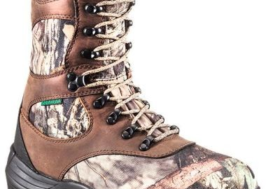 Side of female waterproof hunting boots