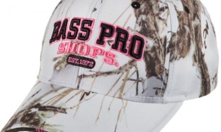 Side of Bass Pro Shops 3-D Camo Cap