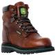 John Deere dark brown hunting boots