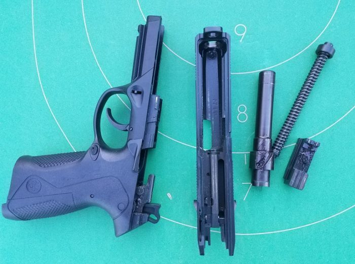 Beretta PX4 Storm dissasembly (image courtesy JWT for thetruthaboutguns.com)