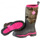Muck Boot Women's Woody PK Realtree APG Pink rubber hunting boot